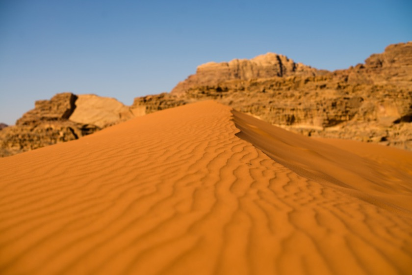 Red dunes in Wadi Rum