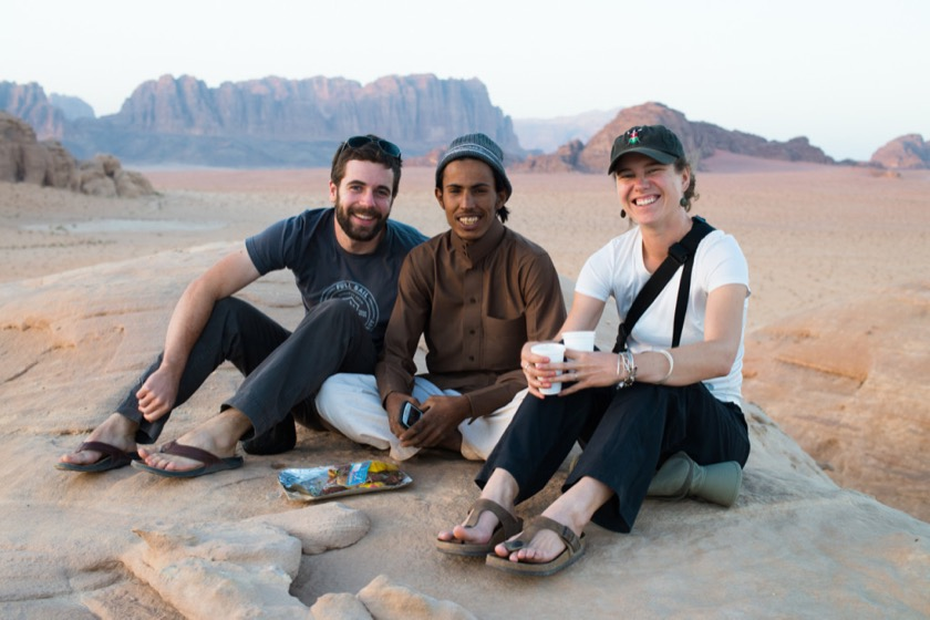 Me, Abdulrakhim, and Rachael. My favorite picture from Wadi Rum.