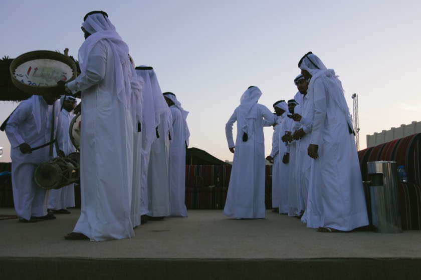 Traditional dance at Katara in Doha