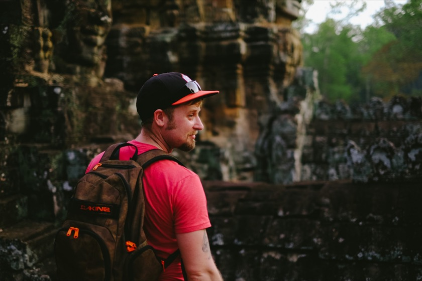 My brother Forrest at the Bayon Temple in Angkor, Cambodia.