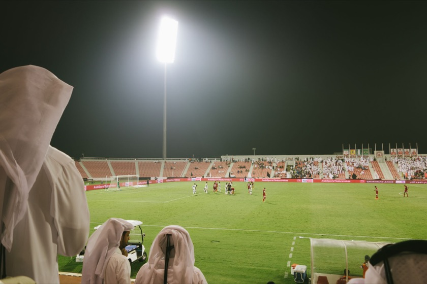 Al Sadd versus Al Arabi at Grand Hamad Stadium in Doha, Qatar.