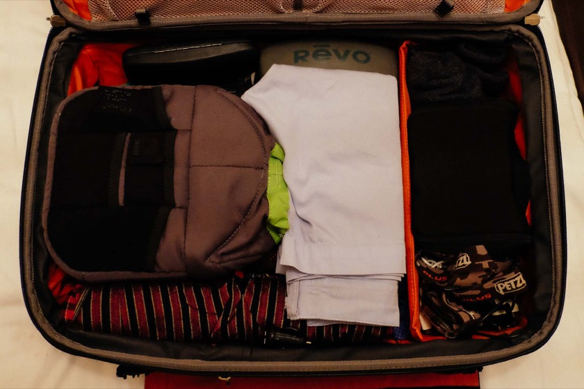 My suitcase for our recent trip to the Balkans.