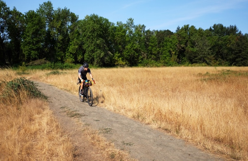 We were still moving fast and in high spirits as we rode through Elijah Bristow State Park, southeast of Eugene.