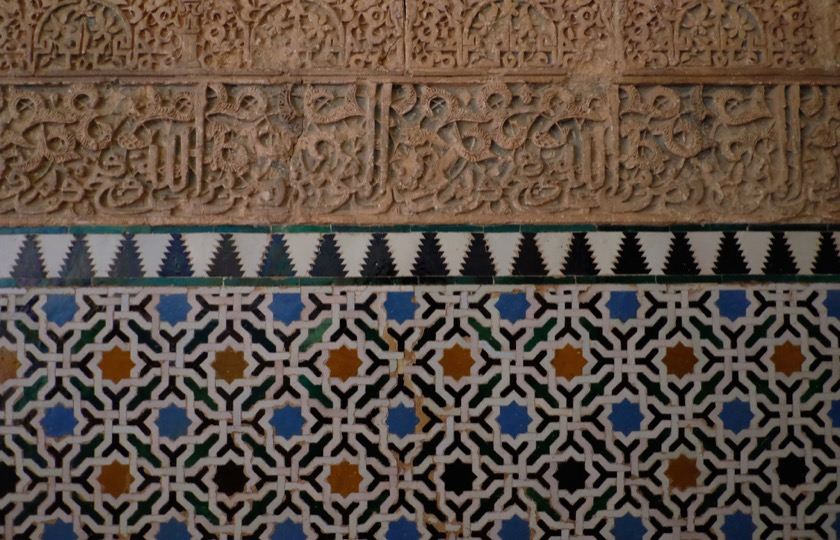 There were designs like this everywhere in the Alhambra, all different, but also consistently holding to the same geometric themes.