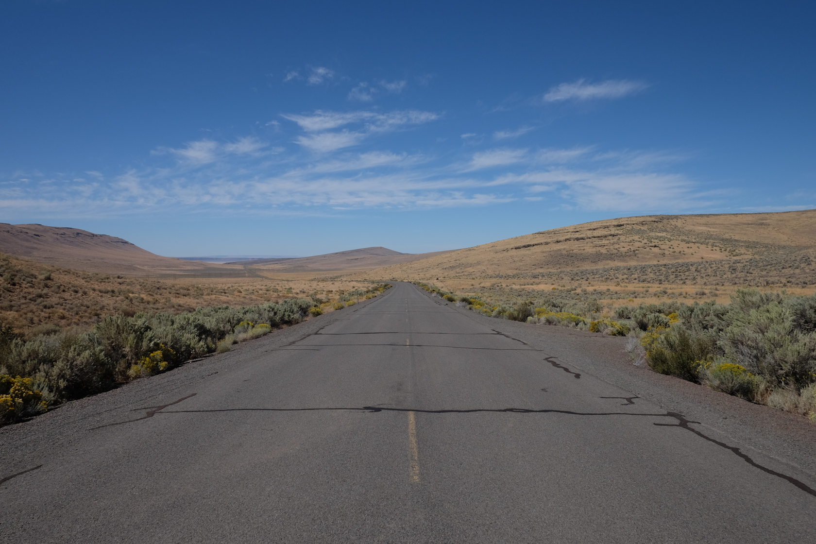 On the way from Frenchglen to Fields, I had to stop and take a picture of the long, empty highway. It was hard to imagine that we were still in Oregon.