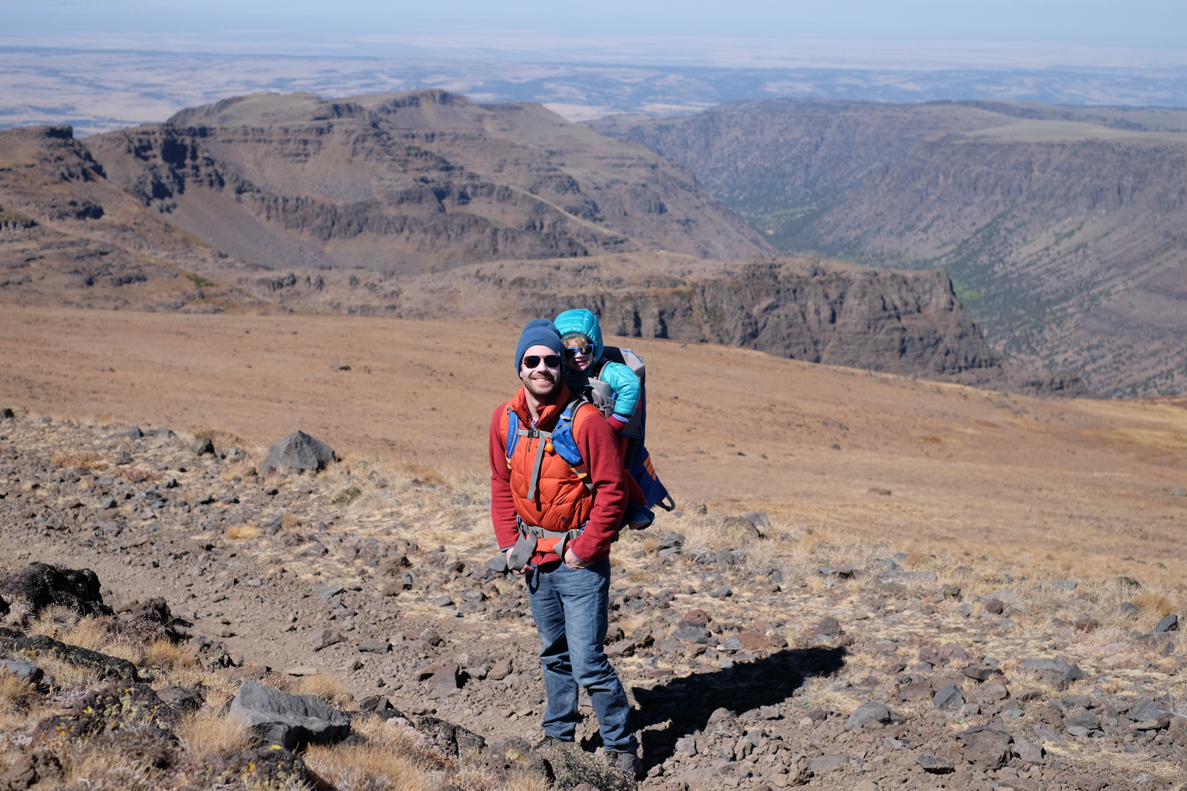 We drove up to the summit of Steens Mountain. It was windier than hell, and cold too, but once we hiked down into one of the nearby canyons it was much more pleasant.