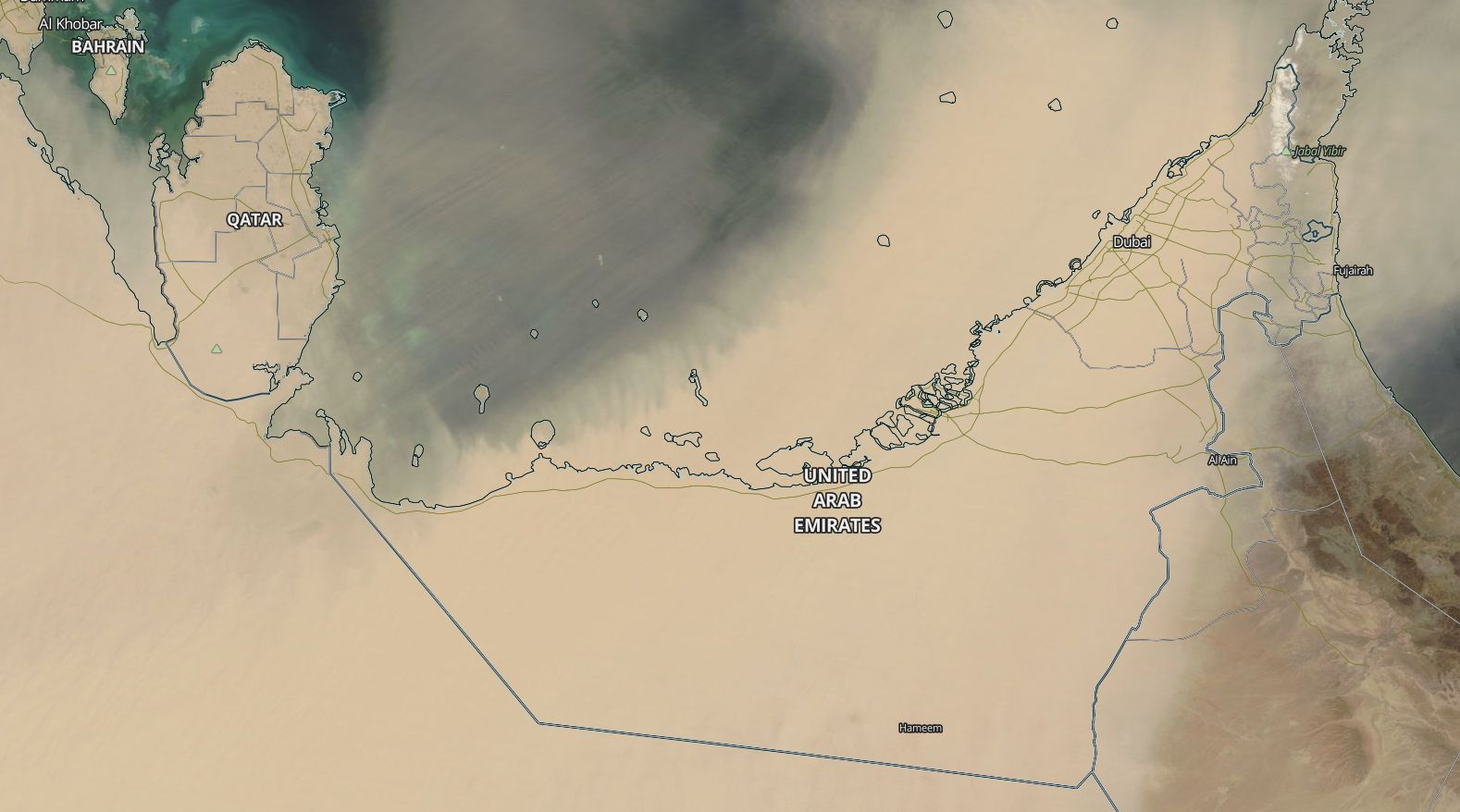 dust over arabian peninsula